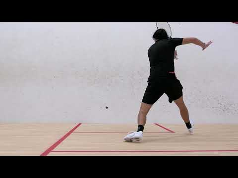 Squash tips: Become comfortable hitting off of both legs!