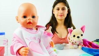 ayşe küçük bebek gül için yemek yapıyor. oyuncaklarla yeni video çocuklar için