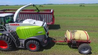 CY Harvesting, chopping alfalfa for West Dublin Dairy in West Central Minnesota in July 2016 Music rights go to : High Finesse-...