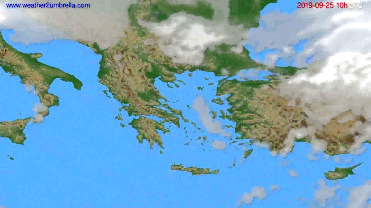 Cloud forecast Greece // modelrun: 00h UTC 2019-09-23