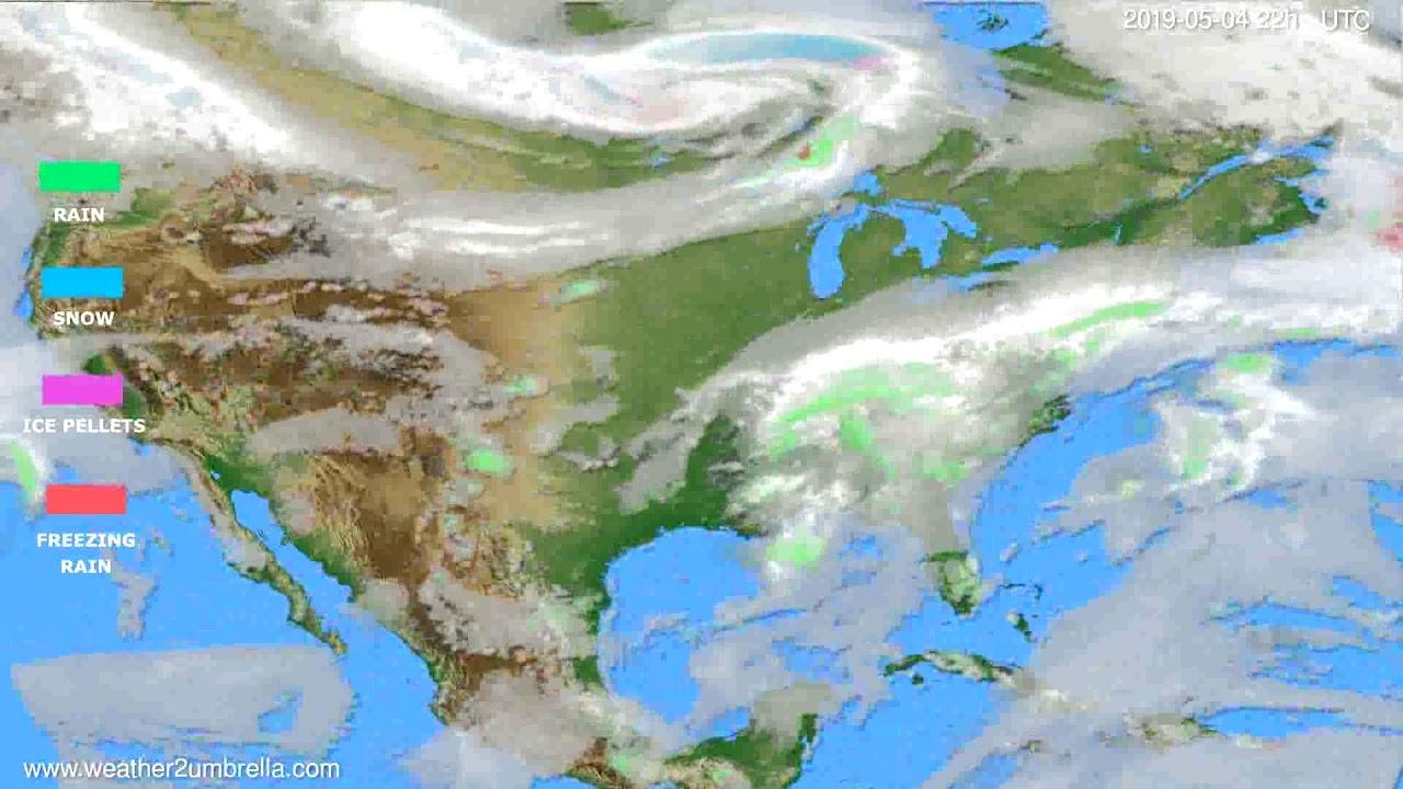 Precipitation forecast USA & Canada // modelrun: 00h UTC 2019-05-02