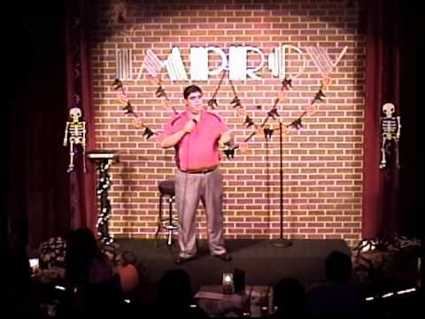 R.J. Chavez performing at the Cleveland Improv