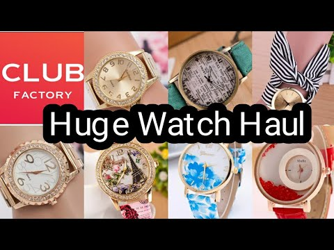 Huge Club Factory Watch Haul 😘😘😍😍With Coupon Code - 9288687 ||Beauty With Easy Tips