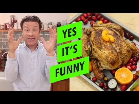Jamie Oliver s Very Suspicious Recipe For A Raw Turkey Full Of