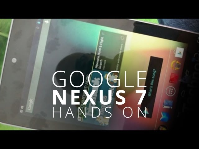Google Nexus 7 Tablet Hands-On