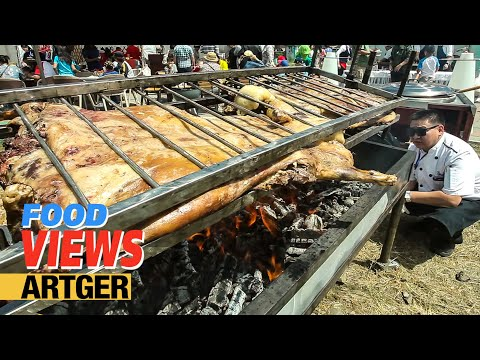 Roasting A Whole Lamb At The Nomadic BBQ Festival In Mongolia | Street Food Views