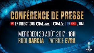 Conférence de presse de Rudi Garcia & Patrice Evra #OMDOM.