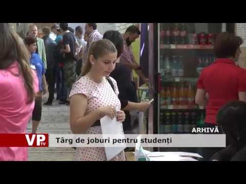 Târg de joburi pentru studenți