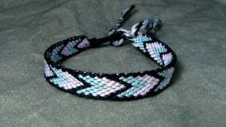 ► Friendship Bracelet Tutorial 12 - Beginner - Bordered Chevron (BONUS: alternate patterns) - YouTube