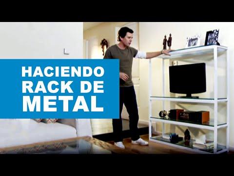 ¿Cómo hacer un rack de metal?