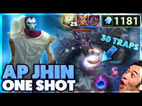 CRAZY TRAP ONE SHOTS | INSANE SNIPES | 1000 AP JHIN - BunnyFuFuu (видео)