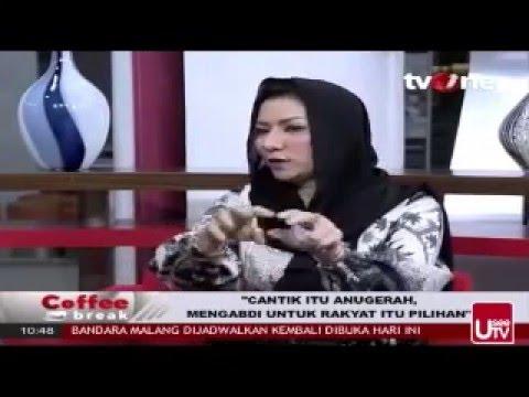Rita Widyasari at Coffe Break TV One