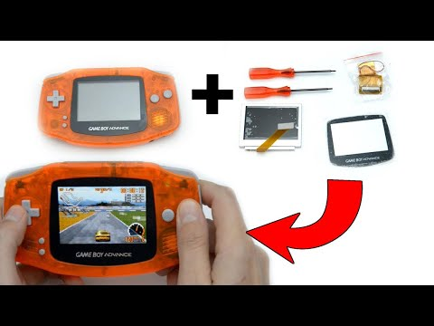 Upgrading a Gameboy Advance screen to backlight