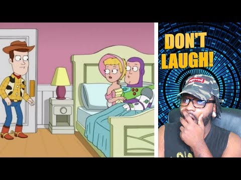 REACTION | *WOODY CAUGHT BUZZ IN BED!!* FAMILY GUY TRY NOT TO LAUGH #6