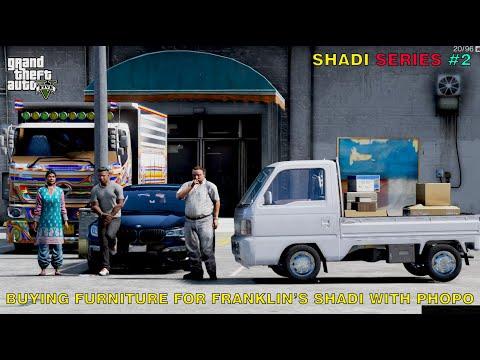 Buying Furniture For Franklin's Shadi With Phopo and Sheeda | Shadi Series #2 | Gta 5 | Leon Gaming