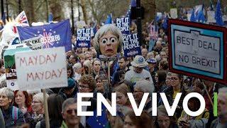 Multitudinaria manifestación en Londres para pedir un segundo referéndum del Brexit