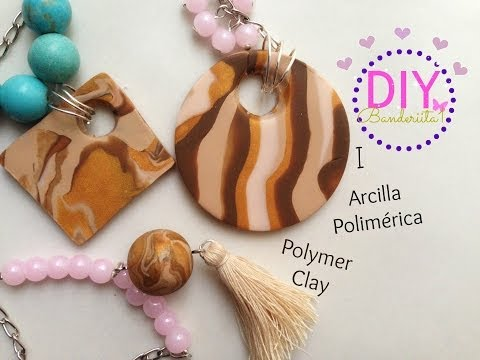 DIY Collares De Arcilla Polimerica/polymer Clay Necklace Tutorial 1