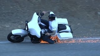 9. Harley Davidson Lowside Motorcycle Crash