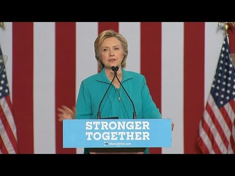 Video Hillary Clinton goes after Trump's controversial