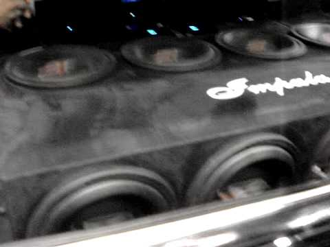 GORRILLA in the trunk 8..12's twerk in the Impala DUB TOUR SHOW...2009     8-1-2009
