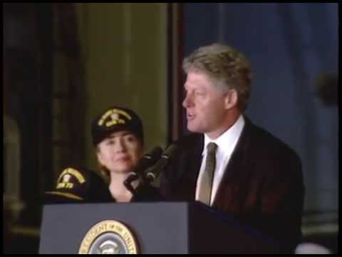 Gingrigh Washington Jefferson - This is video footage of President William Jefferson Clinton delivering remarks to the crew of the U.S.S. George Washington in Portsmouth, United Kingdom. Th...