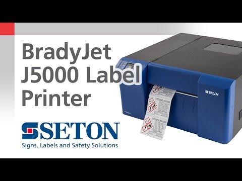 BradyJet J5000 Printer Overview | Seton Video