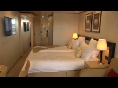Cunard Queen Elizabeth 2014 HD. Part 1. Balcony Cabin BA. HD1080p. (видео)