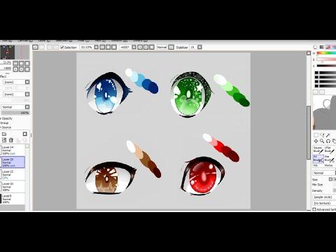 Manga/Anime Augen zeichnen & colorieren mit Paint Tool SAI