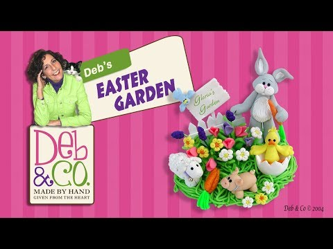 Easter Garden - A polymer Clay Figurine
