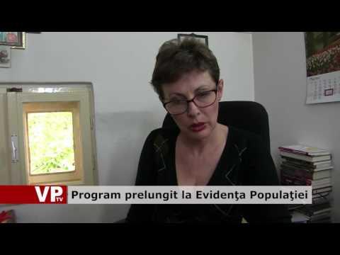 Program prelungit la Evidenţa Populaţiei