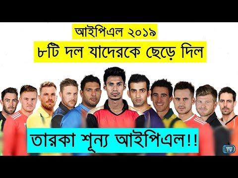 IPL 2019 | All 8 Teams Retained & Released Player List 2019 | MI SRH KKR CSK RCB RR KXIP DD
