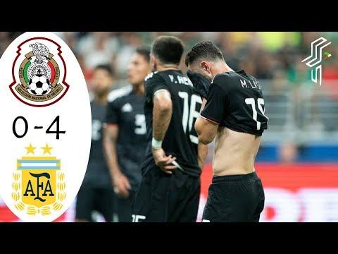 Mexico vs Argentina | Resumen y Goles 0-4 | Azteca 7 HD | Septiembre 10, 2019