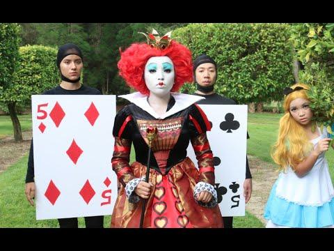 Tim burton 'Queen of Hearts' Makeup Tutorial ♥♥♥