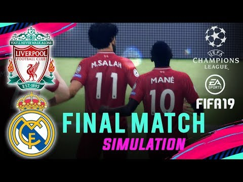 LIVERPOOL vs REAL MADRID | FIFA 19 UCL Final Match Simulation | Broadcast Camera - 1080HD