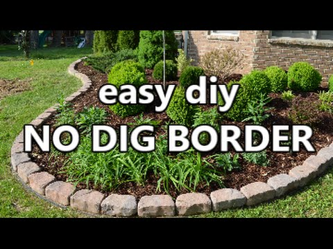 easy diy No Dig Border