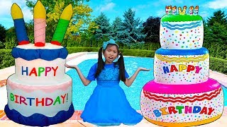 Giant Happy Birthday Cakes Toys | Wendy Pretend Play Surprise Party Kids Toy