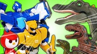 Video 최강전사 미니특공대 출동 공룡을 물리치고 타요 마을을 지켜라 (Miniforce Robot and Tayo Toys. VS Dinosaurs. Animation) - 두두팝토이 MP3, 3GP, MP4, WEBM, AVI, FLV September 2018