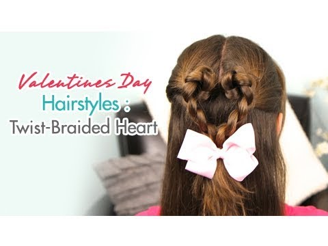 Twist-Braided Heart | Valentines Day Hairstyles | Cute Girls Hairstyles
