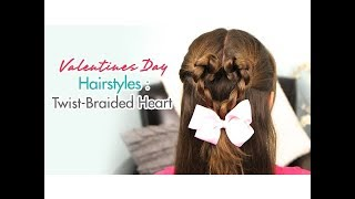 Twist-Braided Heart | Valentines Day Hairstyles | Cute Girls Hairstyles - YouTube