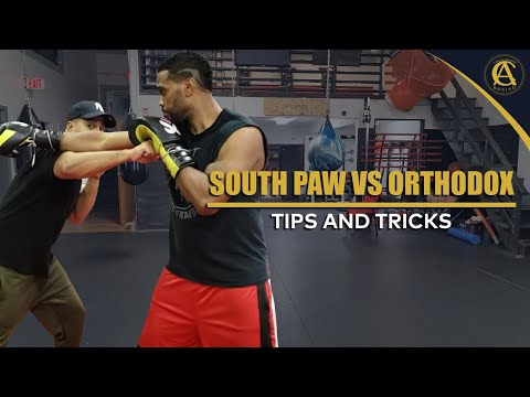 SOUTH PAW VS ORTHODOX TIPS AND TRICKS!| COACH ANTHONY BOXING