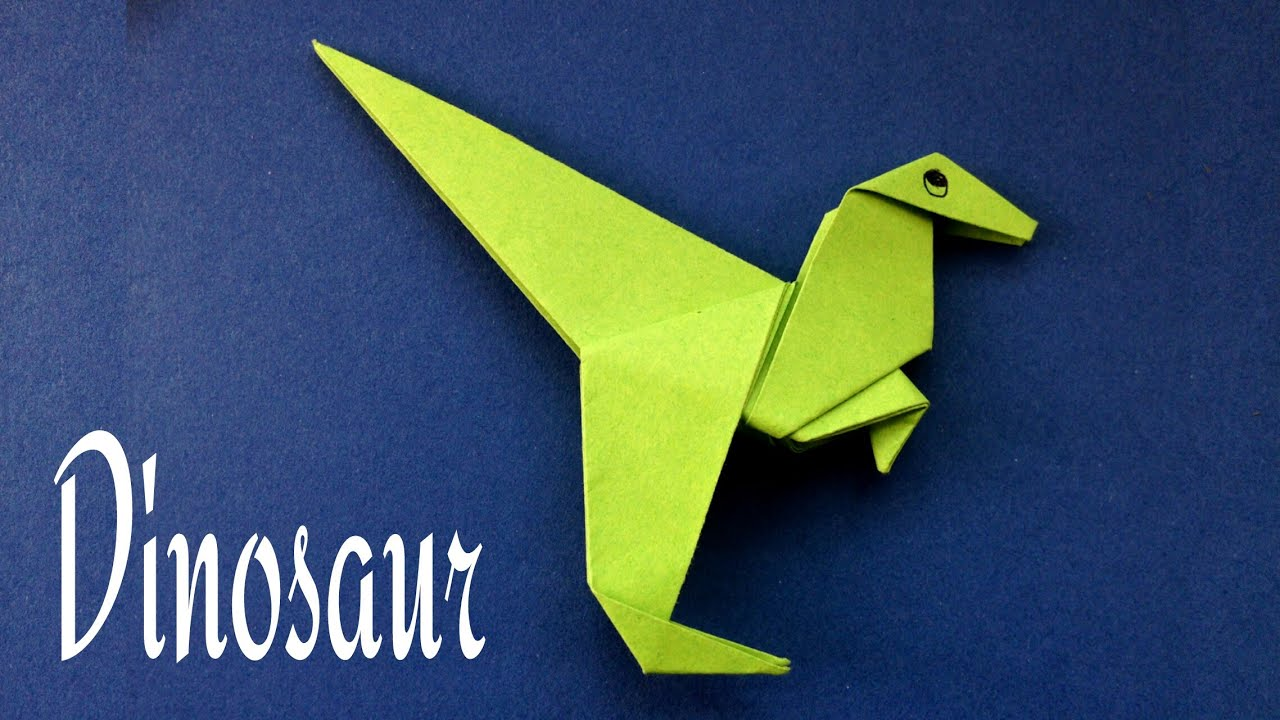How To Make A Paper Dinosaur Animal Origami Tutorial
