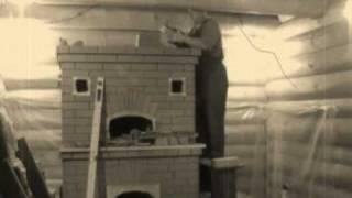 Отопительная печь из кирпича с хлебной камерой