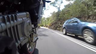 9. Galston Gorge on a nice day. On the Aprilia Mana 850GT (CVT)