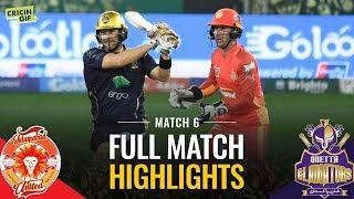 PSL 2019 Match 6: Islamabad United vs Quetta Gladiators | Full Match Highlights