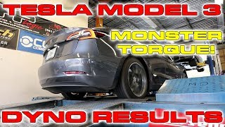 Tesla Model 3 on the Dyno puts down big Torque Numbers! by DragTimes