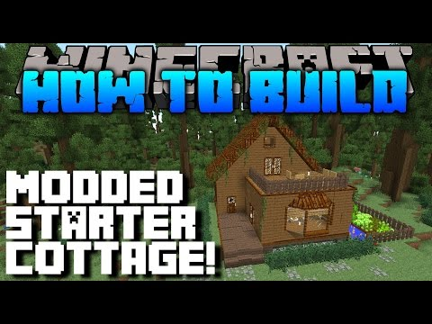 Minecraft : How To Build : MODDED COTTAGE TUTORIAL