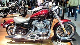 10. 2014 Harley-Davidson Sportster XL883L Superlow Walkaround - 2013 EICMA Milan Motorcycle Exibition