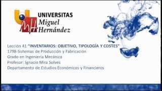 Umh1798 2012-13 Lec41 Introducción Inventarios