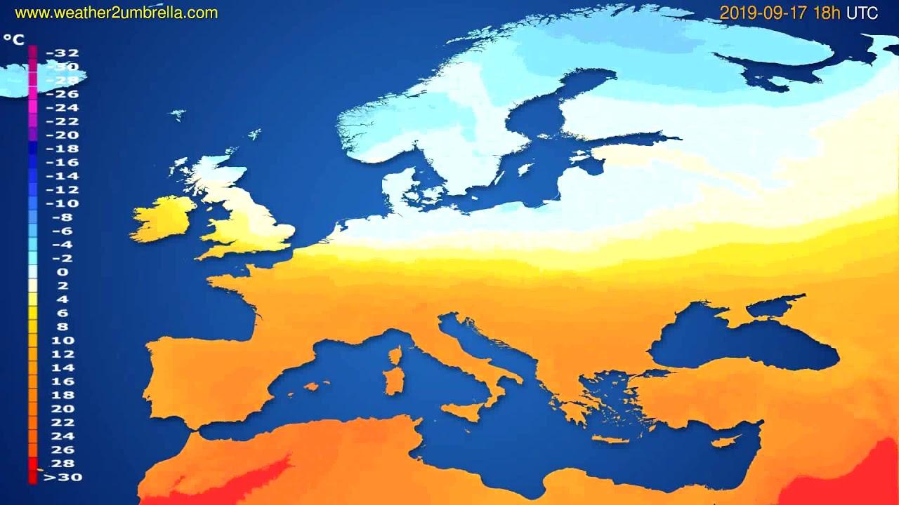 Temperature forecast Europe // modelrun: 12h UTC 2019-09-14