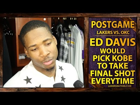 Video: Lakers Vs. Thunder: Ed Davis On Kobe Missing Game Winner